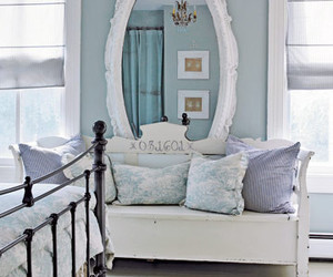 bedroom, furniture, and shabby chic image