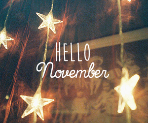 november, hello, and stars image