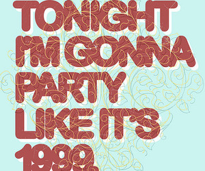 party and typography image