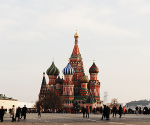 moscow, russia, and st. basil's cathedral image