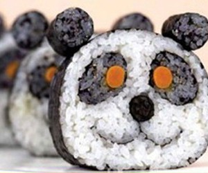 sushi, panda, and food image