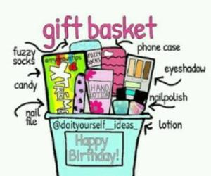 diy, gift, and gift basket image