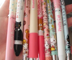 kawaii, pen, and rilakkuma image