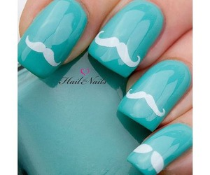 nails, moustache, and blue image