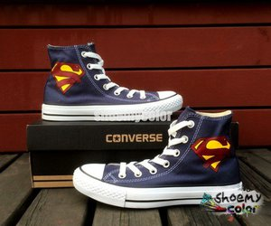 high top shoes and hand painted shoes image