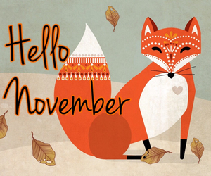 november, fox, and orange image