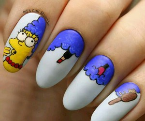 simpsons, blue, and nails image