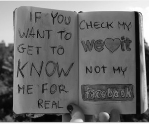 facebook, weheartit, and know me image