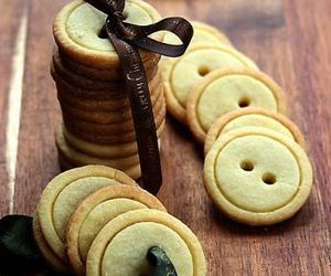 Cookies, buttons, and food image
