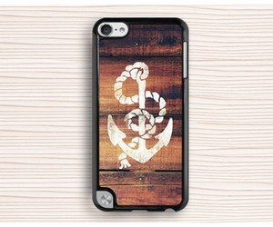 wood ipod touch 5 case, personalized touch 5 case, and anchor ipod touch 4 case image
