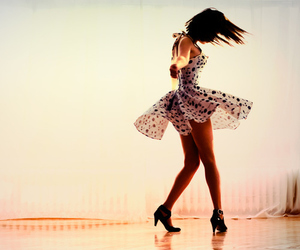 girl, dress, and dance image