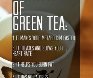 green tea, tea, and fitness image