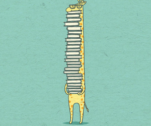 book and giraffe image