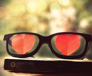glasses and hearts image