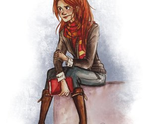 harry potter, book, and ginny weasley image