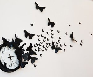 butterfly and clock image