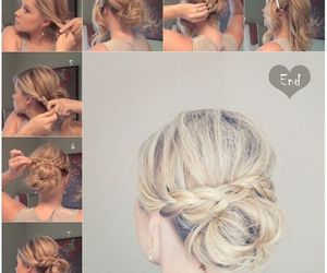 hairstyles, how to, and messy bun image