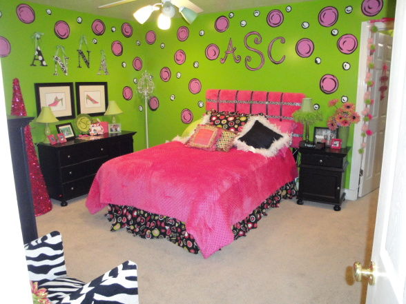 Pleasing Pink And Green Girls Room Designs Decorating Ideas Home Interior And Landscaping Ologienasavecom