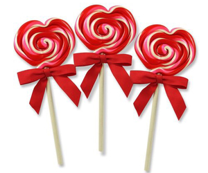red, candy, and hearts image