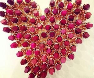 lipstick, heart, and make up image