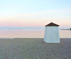 beach, finland, and evening image