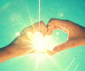 friendship, sun, and hands image