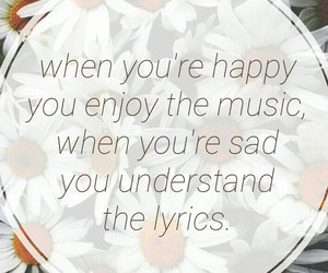 flower, happy, and music image