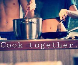 cook, love, and couple image