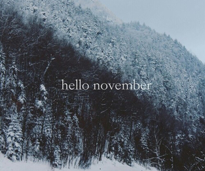 november, snow, and hello image