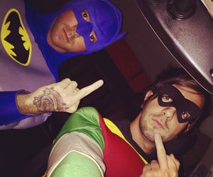 alex gaskarth, all time low, and robin image