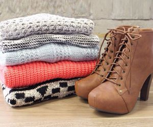 sweater, fashion, and shoes image
