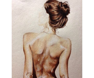 drowing, girl, and sexy image
