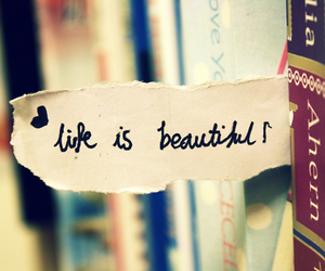 life, beautiful, and book image