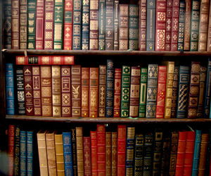 vintage, books, and brown image