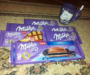 milk, mmm, and oreo image