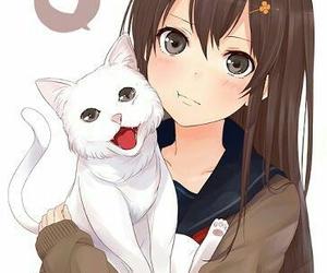 anime, cat, and kawaii image