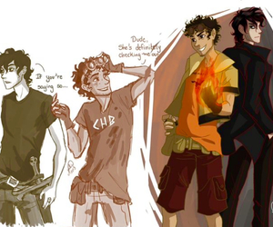 hoo, pjo, and nico di angelo image
