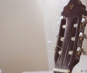 guitar, notes, and love image