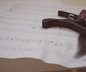guitar, notes, and music image