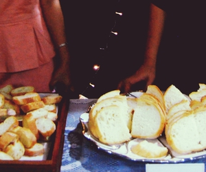 bread, dress, and food image