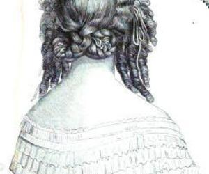 hair, victorian, and hairdo image