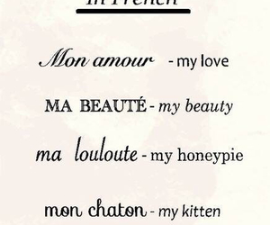 french, my angel, and my kitten image