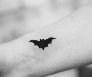 tattoo, batman, and bat image