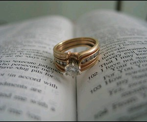 book, english, and ring image