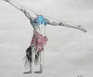 gymnastics, dance, and draw image