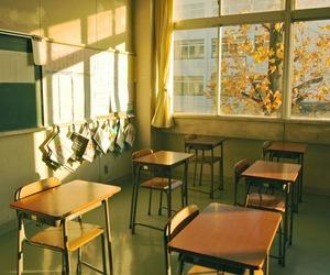school, japan, and sun image
