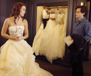 gossip girl, blair waldorf, and wedding dress image