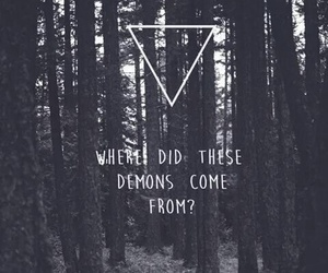 demon, forest, and quotes image