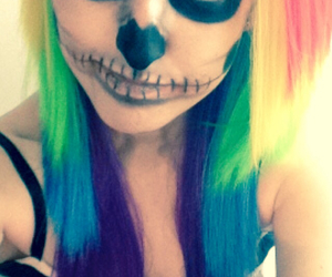 color, girl, and Halloween image