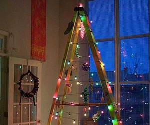 christmas, diy, and ladder image